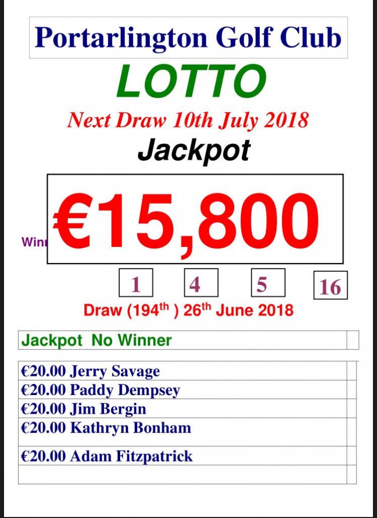 Lotto June 26