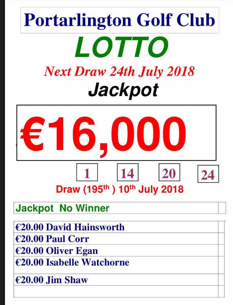 Lotto 110718